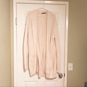 Abercrombie & Fitch Long Cable Knit Cardigan